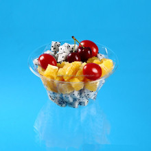 special diamond shape packaging plastic fruit salad bowl container