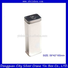 Großhandel metall teedose/Tee zinn container/Tee dosen mit silber druck