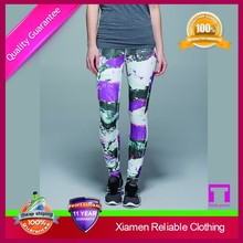 Latest 90% polyester 10% spandex yoga pants wholesale made in China