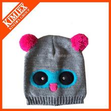 Knit anime hat cat