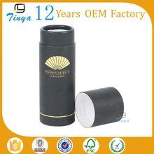 brand logo printed paper gift tube packing