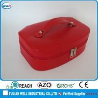 red elegant handmade customize fabric jewelry box
