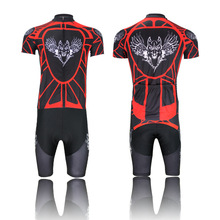 Airwolf red and blue short-sleeved suit bike clothing summer speed drying wicking breathable wholesale