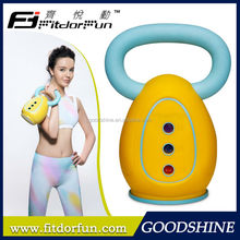 Factory Price Patented Colored PP Kettle Body Adjustable 3 Iron Weights Fitness Equipment Kettle Bell Set