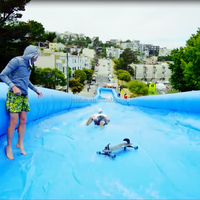 2015 Popular 300meter Inflatable Slide City Slip, Inflatable City Slide For Kids And Adult , 300m Long Surfing Down Streets