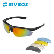2014Sports sunglasses with changeable lensesUV400 Goggle con el protector de la nariz