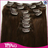 China Factory Wholesale Real Remy clip in hair extensions for black women