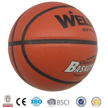 7# PU/PVC Laminated Basketballs Custom Logo Basket Ball Brown Color