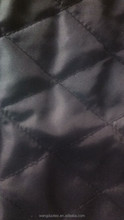 diamond quilted coat lining fabric/padded polyester taffeta/ cheaper jacket materials