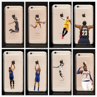 Sport Basketball Cool Transparent Back Style Custom Printed Hard Plastic Protective Phone Case Cover For Iphone 4 4S