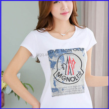 2015 funky t shirt design for ladies trendy popular china manufacturer wholesale t shirt with logo