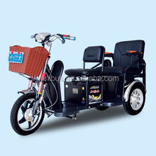 Double Seat Passengers 3 wheel Adults Electric Mobility Scooter with sunny roof