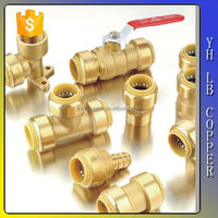 Lead free brass Ports Pneumatic Push Fitting Quick Plastic Connecting Pipe Tools push fit fitting