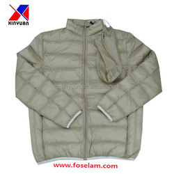 grey light padding warm jacket, autumn jacket, fack down jacket