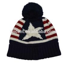 sombreros de punto con pompones
