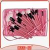 Woman's Pink 32 Pcs Make Up Tools Pincel Maquiagem Professional Superior Soft Cosmetic Make up Brush Set Kit + Pouch Bag Case