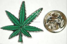 Cannabis Leaf Metal Lapel Hat Cap Tie Pin Badge Marijuana Weed Pot Brooch Gift