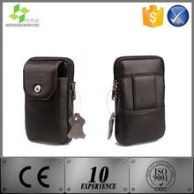 Leather waist belt bag for men