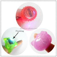 TPR soft plastic toy flashing finger rings for promotional gift