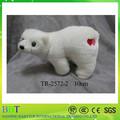 Custom pelúcia urso polar, 10cm mini urso polar