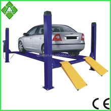 First class smart and valet share post hydraulic parking 2 cars lift