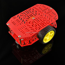 New Smart Car Chassis Of CR0024 Drove Two Red Porous Body