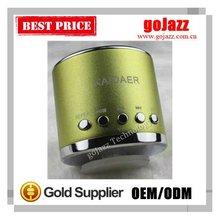 2012 5W colorful FM TF card mini portable mini kaidaer usb audio player