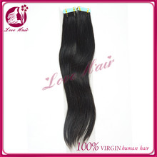 Wholesale prices tape in hair straight extentions natural dark black hair brazilian beauty hair styles