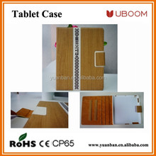 Tablet Leather Cover for Ipad Air Wooden Case With Stand , Custom Universal Tablet Cases