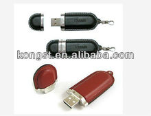 welcomed leather keychain usb flash for promotional festival