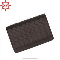 New Designed braided leather card case