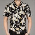 mais recente homens camisa havaiana floral impresso camisas