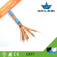 Factory price 4 pair double shielded PVC jacket cat 7 computer cable