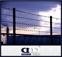 Pasture boundary durable galvanized barbed wire for top fence