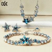 China Wholesale 925 Silver African Beads Jewelry Set, CDE Bridal Jewellery Set Fashion Jewelry Set