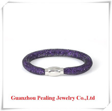 2015 New Trend 15 Colors Resin Crystal Mesh Bangle
