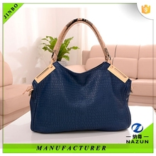 dark blue real leather bag ,tough leather bag,raw leather bag