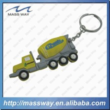 custom 3D truck shape soft PVC rubber keychain