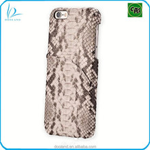 Luxury quality real python skin cover genuine python leather case for iphone 6