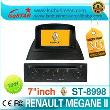 2 Din Renault Megane II car dvd player with dvd/cd/mp3/mp4/bluetooth/ipod/radio/tv/gps! hot selling!3G!