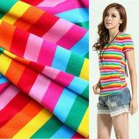 rainbow stripe knitted fabric