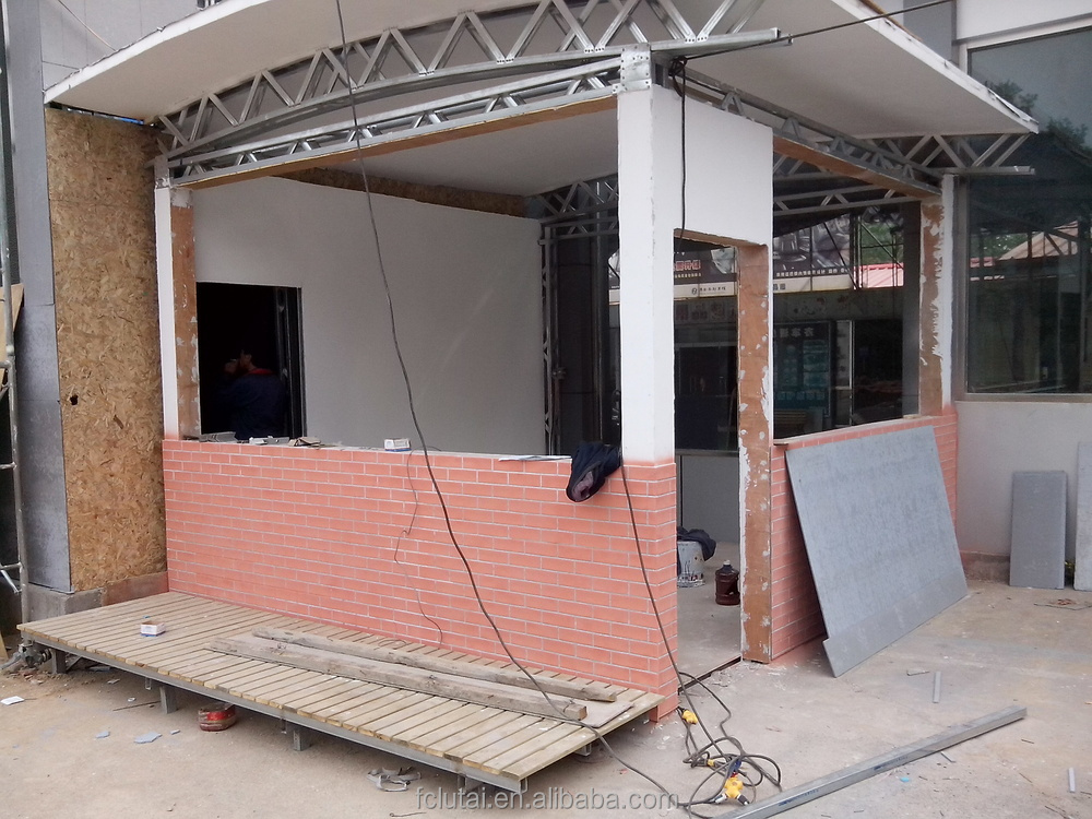 Brick Grain Exterior Wall Cladding Wood Texture Prefabricated Integrated House 200x2400