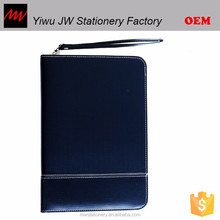 leather portfolio with calculator and notepad