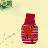 knit acrylic animal cover for hot water bag with high quality