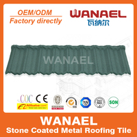 Traditional Wanael decorative metal roof tile/anti-uv stone chips coated roof sheet/roofing for parking