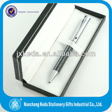 2014 High quality silver plated Metal sexy Leopard pen with uneven leather