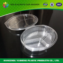 High quality PET Plastic disposable three compartment food tray
