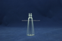 recycling plastic and crystal 30ml pyramid pet bottles for perfume use