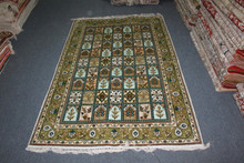 new isfahan high quality hand knotted pure silk rug in guangzhou
