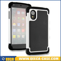 Hard shockproof heavy duty hybrid rubber case for nexus 5